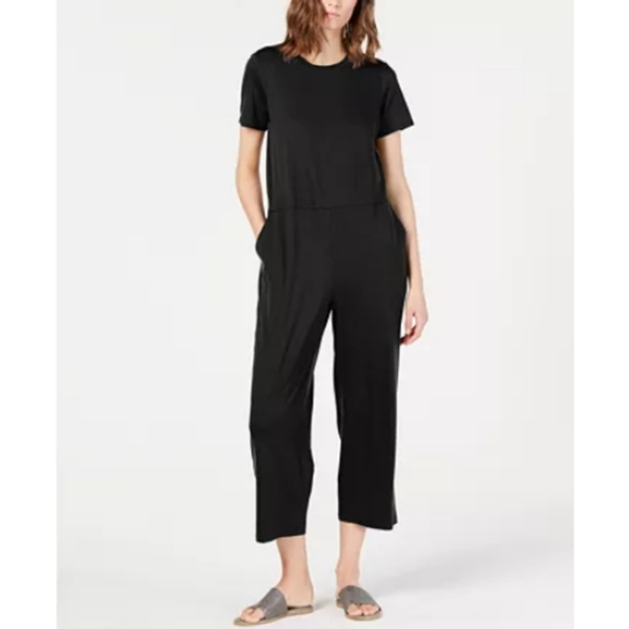 Eileen Fisher Pants - Eileen Fisher Round-Neck Tencel Jumpsuit Size M